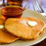 plate of easy oatmeal pancakes