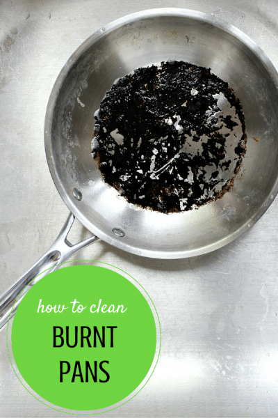 how to clean burnt pans