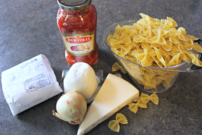 ingredients to make baked pasta recipe