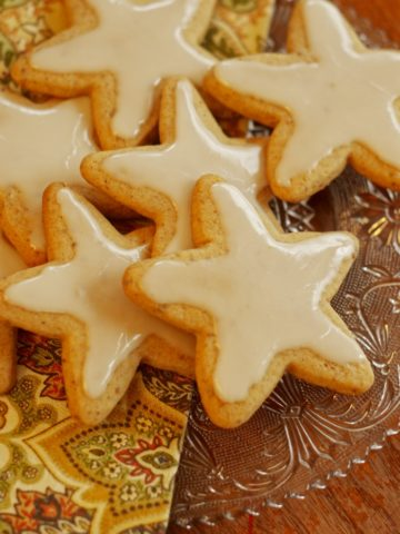 Honey cut out cookies for Christmas