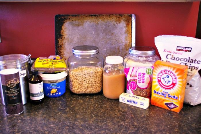 Oatmeal Fudge Cookie Ingredients