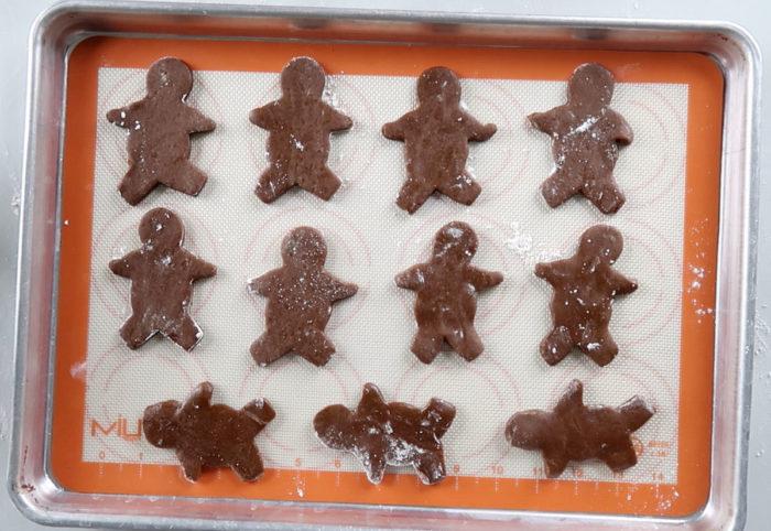 gingerbread men cut out