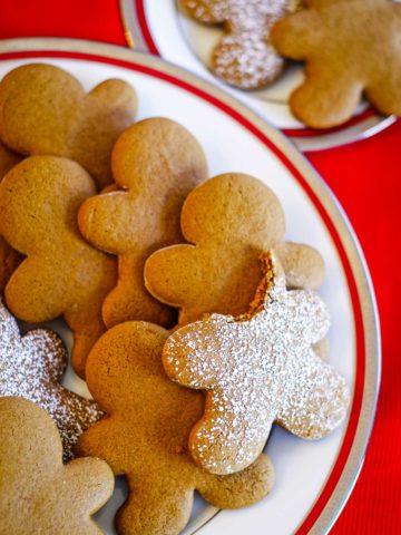 Gingerbread cookies on plate