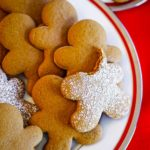 cookie decorated with powdered sugar