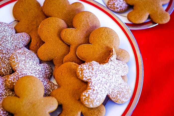 plate of the best gingerbread cookies