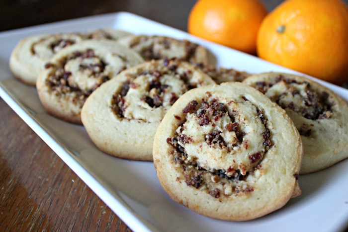 holiday cranberry and orange pinwheel cookies recipe