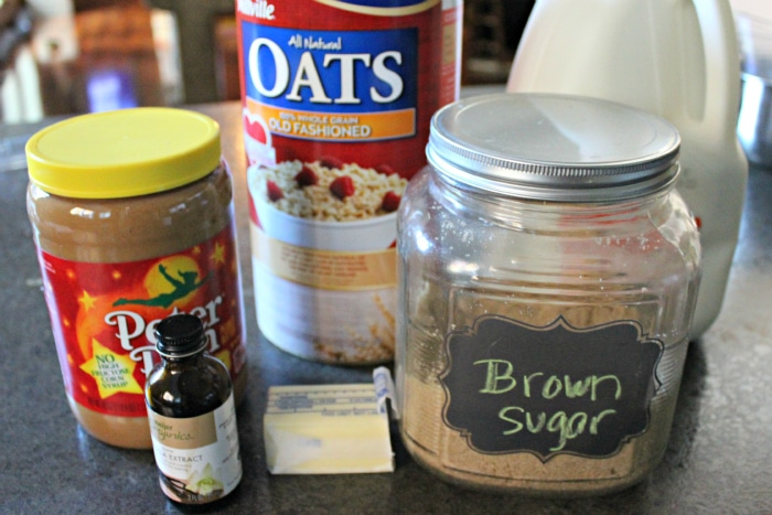 ingredients to make no bake oatmeal cookies