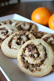orange and cranberry pinwheels cookie recipe