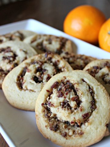 orange and cranberry pinwheels cookie recipe
