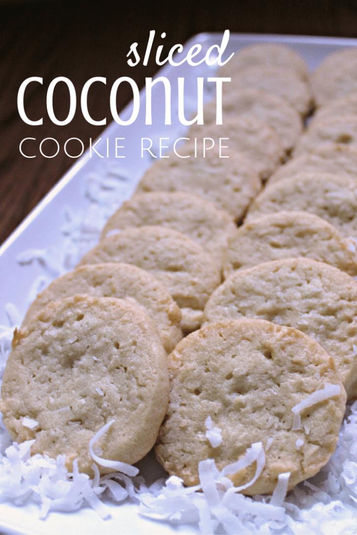 sliced coconut cookie recipe