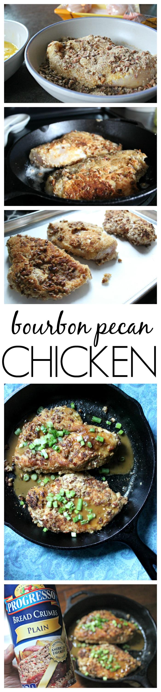 Boubon chicken pecan recipe with Progresso bread crumbs