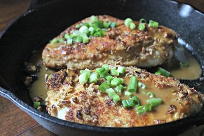 Pecan Chicken with Bourbon Glaze