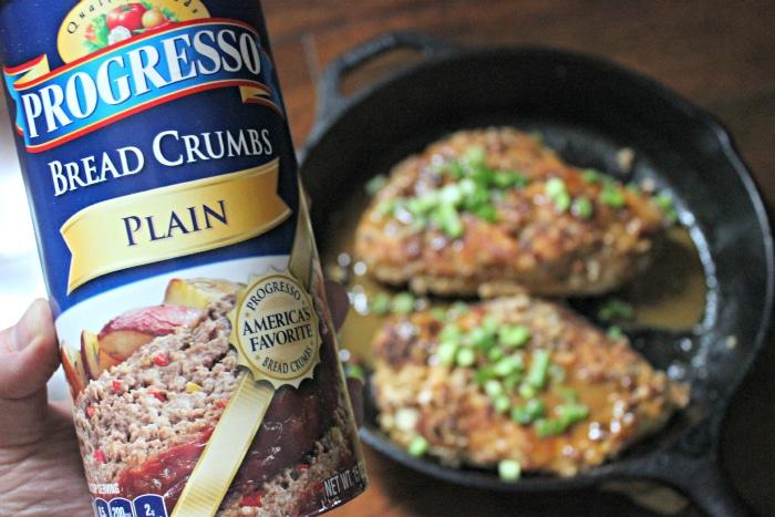 Progresso bread crumbs plain in Bourbon pecan chicken