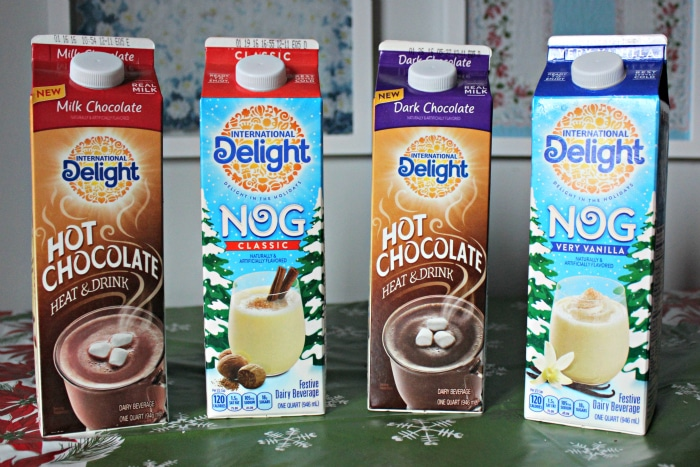 international delight hot chocolate and egg nog