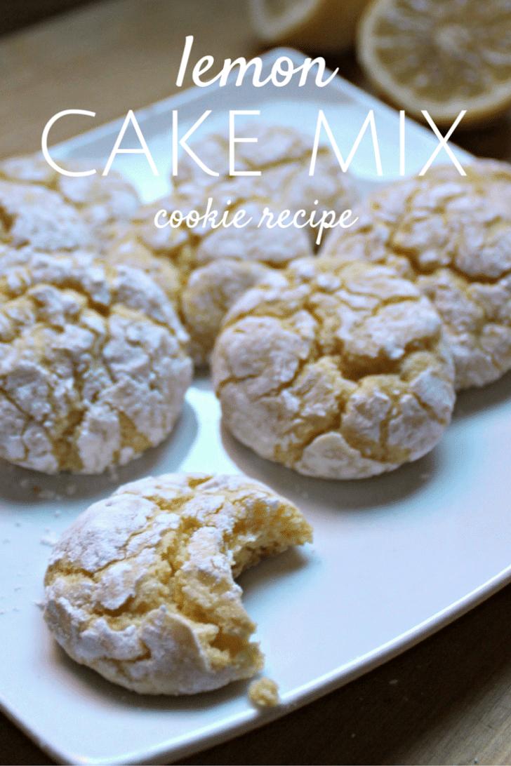 lemon cake mix cookie
