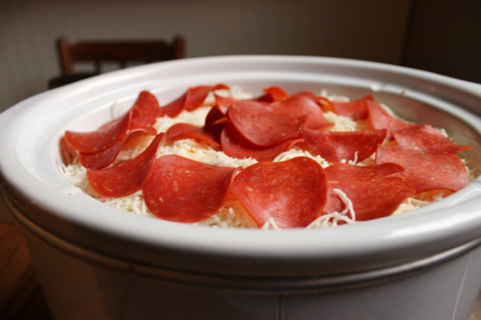 crock pot pizza before cooking
