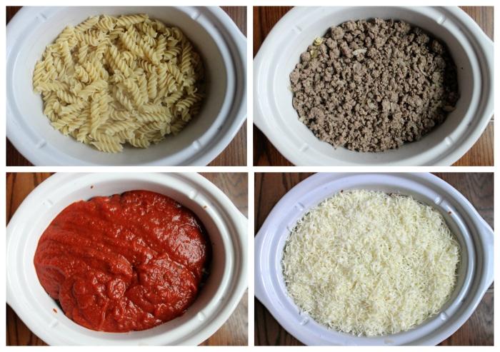 crockpot pizza recipe in four step