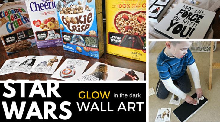 STAR Wars glow in the dark wall art