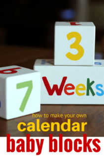 How to Make Your Own Baby Wood Block Calendar