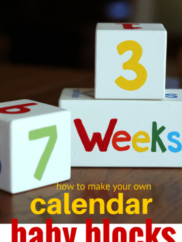 how to make your own months weeks kisses baby blocks for baby shower