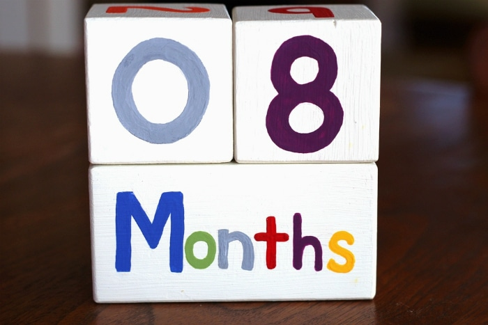 months counter for baby blocks
