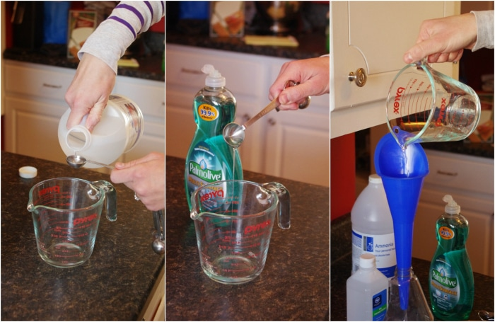 homemade glass cleaner with ammonia tutorial