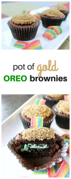 Pot of Gold Oreo Brownies