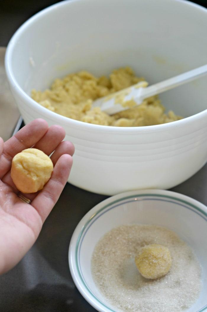 easy lemon tea cookies in sugar