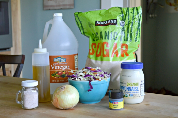 homemade coleslaw ingredients