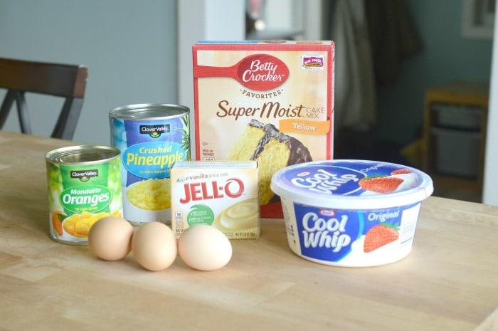ingredients to make orange delight cake