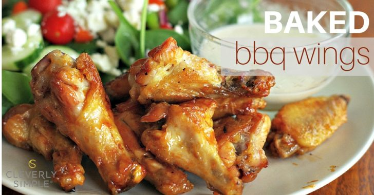 bbq chicken wings on plate
