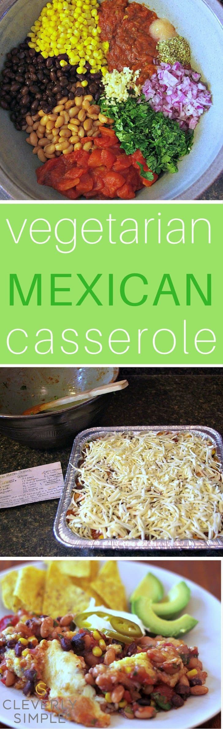 Easy Vegetarian Mexican Casserole that is healthy for your whole family.