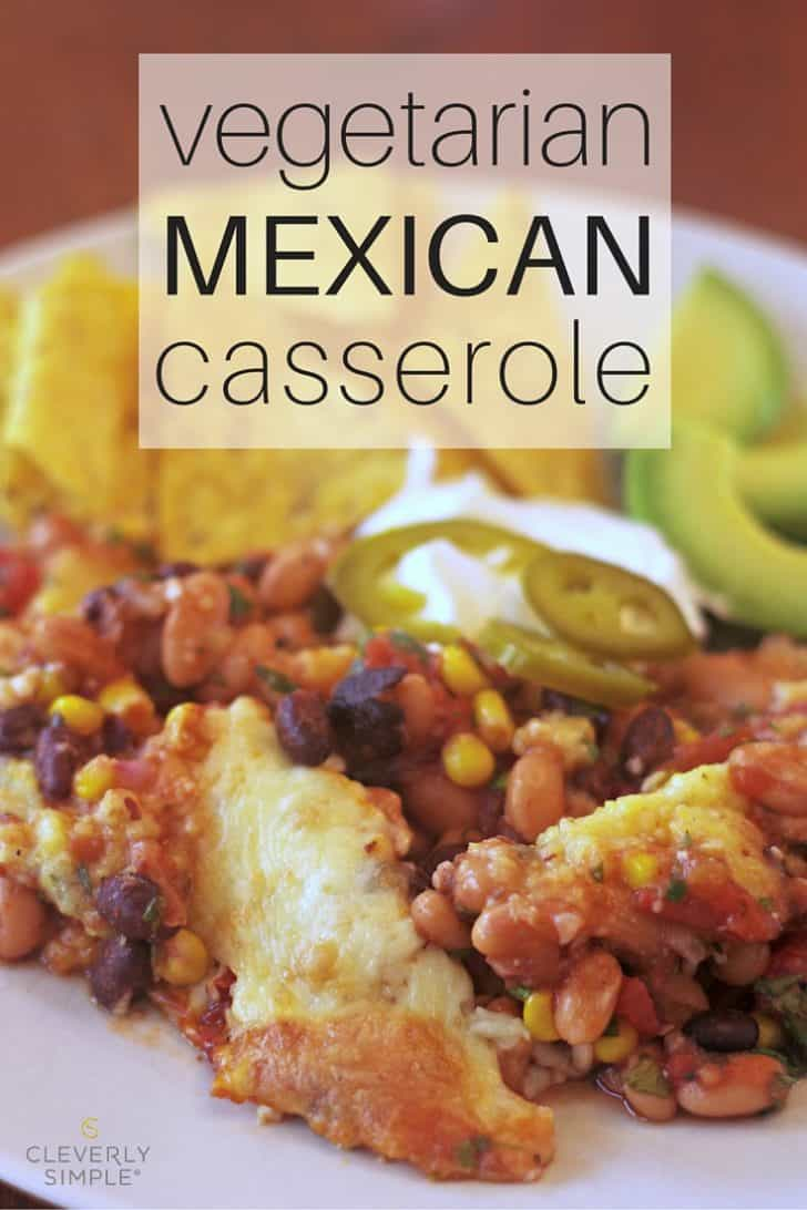 mexican casserole on plate