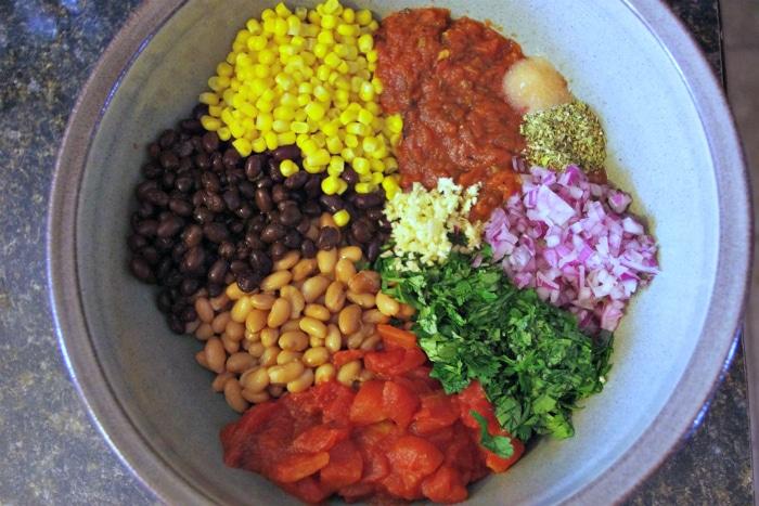 casserole ingredients in a bowl