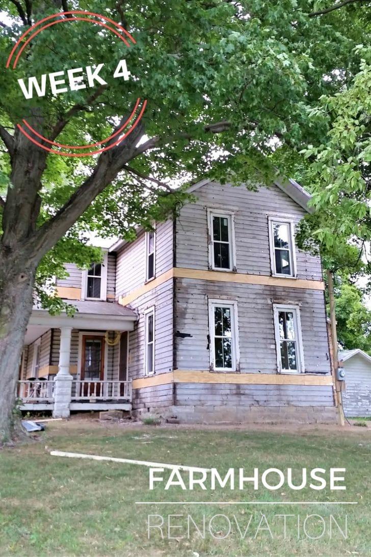 Farmhouse Renovation Week 4 Siding Removed, lath