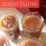 easy crockpot apple butter recipe, canning
