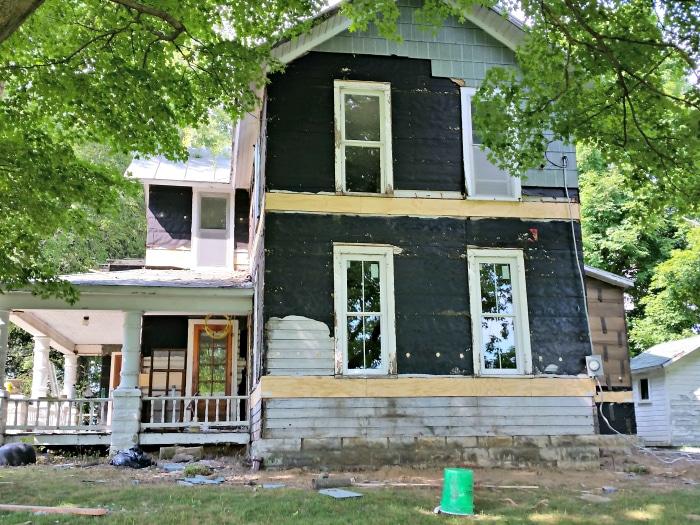 farmhouse renovation week 3 windows outside