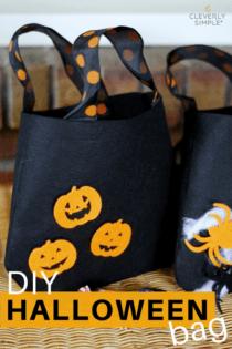 DIY Halloween Bag For Trick or Treating