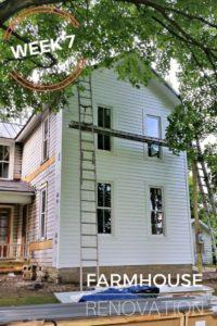 Farmhouse Renovation Week 7 Siding and Porch