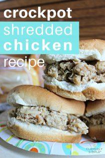 Crockpot Hot Shredded Chicken Sandwich Recipe