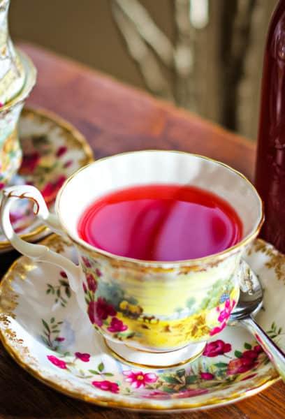 homemade cranberry tea