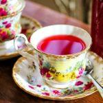 tea cup with cranberry tea