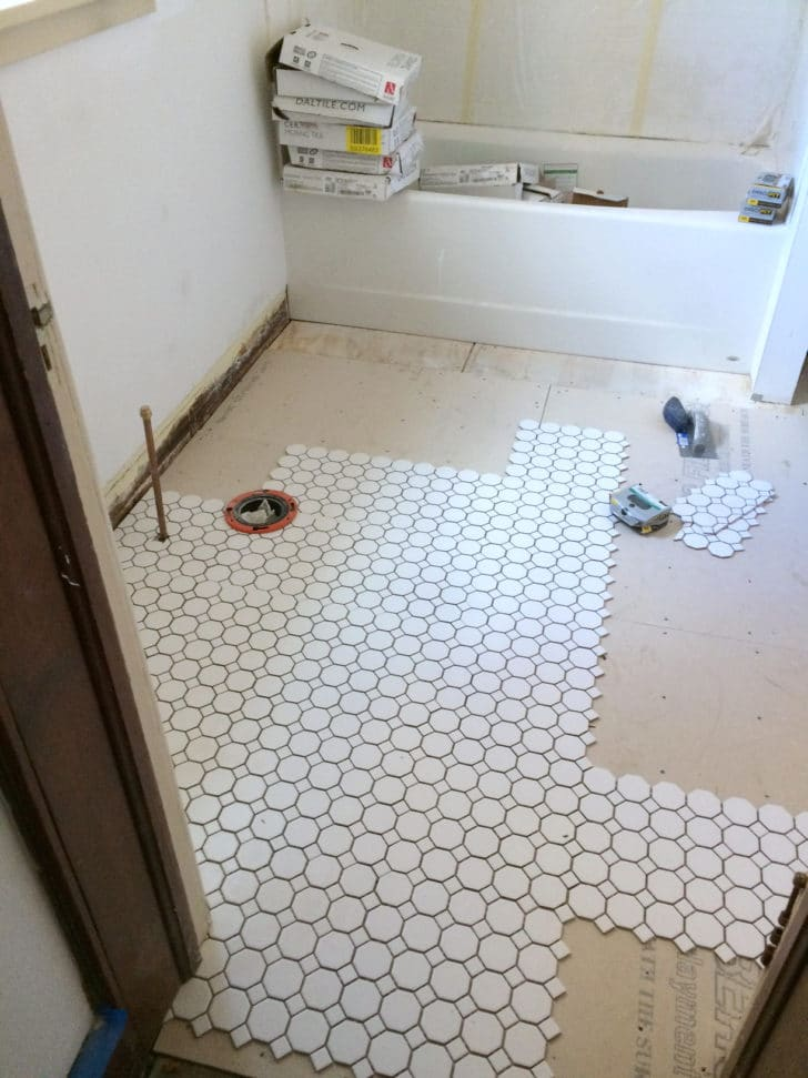 Farmhouse Renovation Week 16 (The Kitchen & The Chimney ... on Farmhouse Bathroom Floor Tile  id=32125