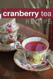 Homemade Cranberry Tea Recipe