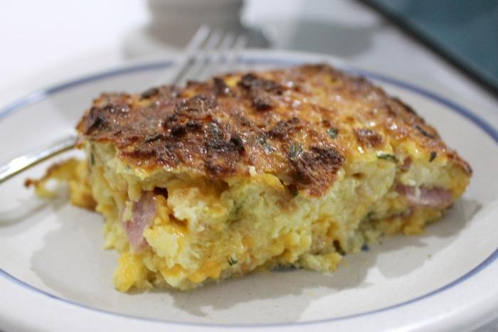 Easy ham and egg breakfast casserole 1