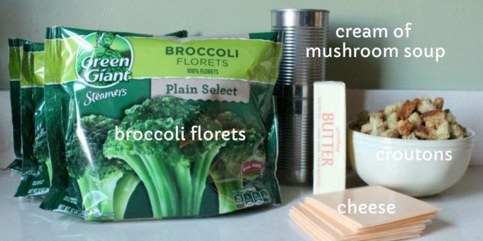 broccoli and cheese casserole ingredients