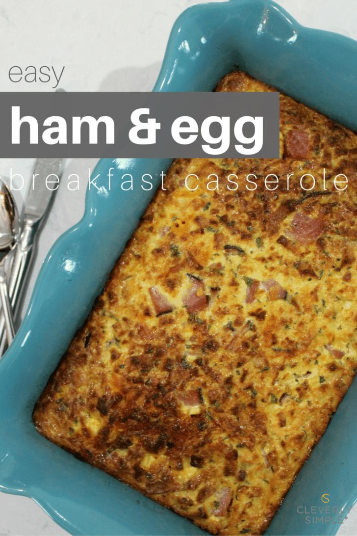 easy ham and egg breakfast casserole