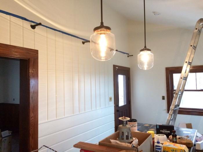 farmhouse renovation week 21 kitchen lights
