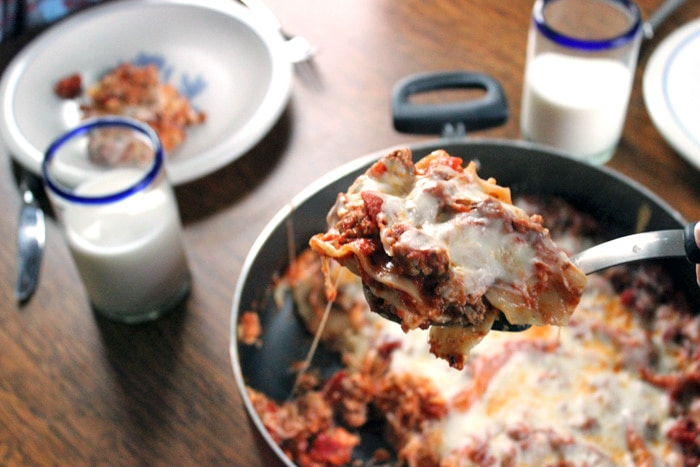 Skillet Lasagna-23