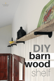 DIY Barn Wood Shelf
